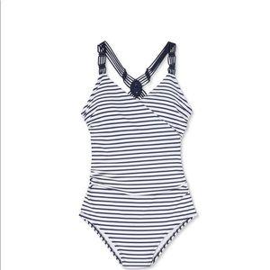 Kona Sol Blue White Stripe One Piece Swim …